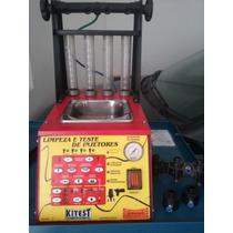 Maquina De Limpar Bicos Kitest + Flauta Zetec 1 Bico Fiat Vw