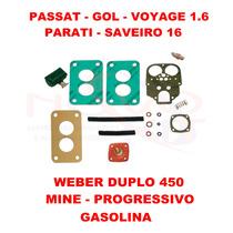 Kit Carburador Passat/gol/voyage 1.6 Gas Weber 450 Mine Prog