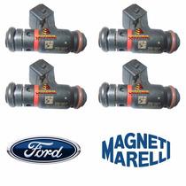 Jogo 4 Bico Injetor Fiesta Ecosport Ipe007 Magneti Marelli