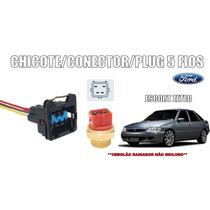 Plug Chicote Conector 5 Fios Cebolão Radiador Ford Escort