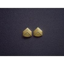 Distintivo (insígnia) Dourado De Gola 3 Sargento - Eb (par)