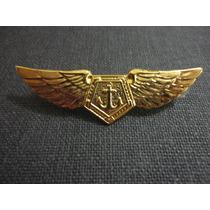 Brevê Metal Dourado Especialização Aviação Marinha Do Brasil