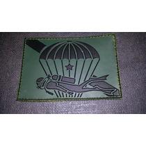 Distintivo Emborrachado Verde Paraquedista Mergulhador