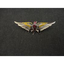 Distintivo De Metal Prateado Da Polícia Militar De Goias