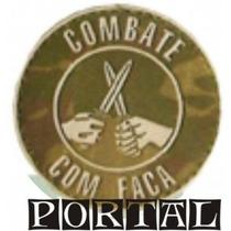 Distintivo Breve Emborrachado Combate Com Facas Pq. E Gr.