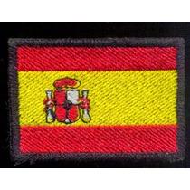 Espanha Bandeira Patch Bordado E Termocolante