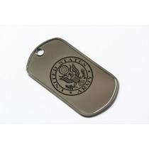 Placa Aço Inox Dog Tag Us Army - Exército Americano