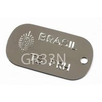 Placa Identificação Aço Inox P/ Dog Tag Nacional Exército Eb