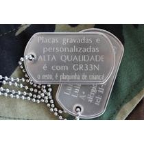 Dog Tag Premium Completo Com Corrente Inox 75 Cm Dogtag