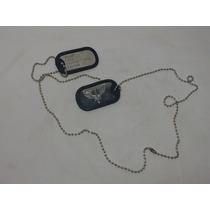 Placa Identificação Dog Tag Aeronautica Fab Militar Tatico
