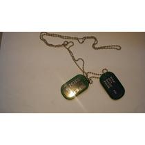 Placa Identificação Dog Tag Exercito Militar Tatico Verde