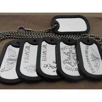 Placa De Identificaçao Militar, Dog Tags ,personalizadas