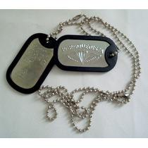 Placa Identificação Dog Tag Paraquedista Militar Tatico
