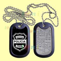Dog Tag Estilizado - Polícia Civil - Paraná