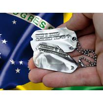 Dog Tag Plaqueta De Identificação - Gravação Grátis!