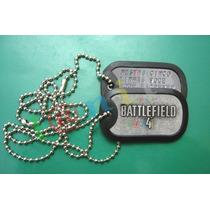 Dog Tag Estilizado - Battlefield 4 - Gravação Grátis