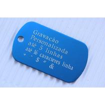 Placa Identificação Personalizado Dog Tag Aluminio Anodizado
