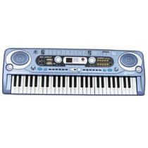 Piano Teclado Musical Infantil Mq 018uf 49 Teclas Rádio Usb