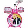 Bateria Infantil Barbie Musical 3847 Fun - Pronta Entrega