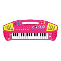 Brinquedo Musical Teclado Grande Barbie Barao Toys Bebe
