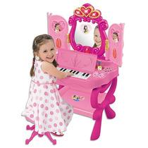 Penteadeira E Piano Da Princesa Braskit Brinquedo Teclado