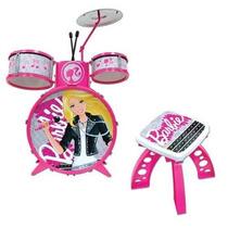 Barbie Bateria Infantil Com 8 Peças_original