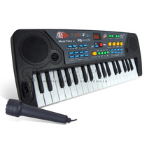 Teclado Piano Musical Microfone Infantil 37 Teclas 8 Ritmos