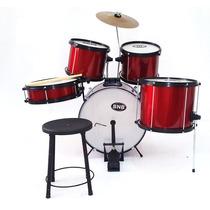 Bateria Musical Bnb Infantil Nova. Cor - Cereja Completa !!!