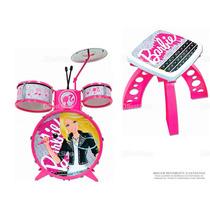 Bateria Acústica Infantil Barbie Popstar Matel