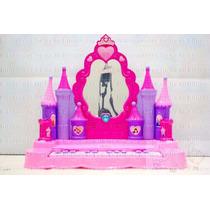 Piano Musical Infantil Castelo Com Espelho