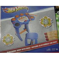Bateria Hot Wheels Eletrônic Instrumento Musical - Diversão