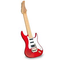 Guitarra Eletronica Infantil Vermelha Preta - Envio Imediato
