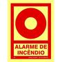 Placa Alarme De Incêndio 20x15cm Fotolumine Npt 20 Bombeiros