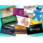 Cartões De Visita Papel Couchê 250g. Verniz Total Frente