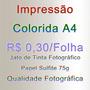 Impressão Colorida A4 Jato De Tinta Sulfite 75g - 10 Folhas