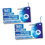 Tags - Etiquetas - 4x4 - Verniz T. - 1000un - 9x5cm - 300gr