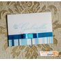 50 Convites 15 Anos Fita Laço Cetim Azul Arte Personalizada