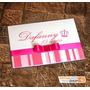 50 Convites De Aniversário 15 Anos / Infantil / Rosa Pink
