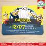 50 Convites Personalizados 10x7 Aniversário Infantil