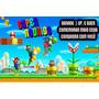 Convite Personalizado Com Foto Mario Bros