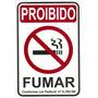 Placa Indicativa Proibido Fumar Material Pvc