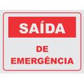 Placa Sinalizadora Pvc 3 Mm Poliestireno Saída De Emergência