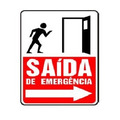 Placa Sinalização Poliestireno Saída De Emergência