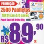 2500 Panfletos 10x14 Colorido Frente Couchê 80g Produção 48h
