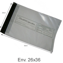 Envelope Plástico Segurança Lacre Tipo Sedex Impresso 26x36