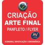 Criação De Arte Final P/ Panfleto Folder Flyer Cartão Tags