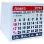 Mini Calendário Bloco Para Ímã 2016- 2x0 500 Unid.