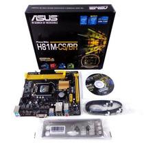 Kit Asus H81m-cs/br + I3 4170 + 4gb Ram Kingston 12x Sem J