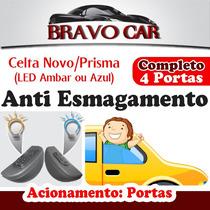 Kit Vidro Elétrico Celta Prisma 4 Portas Completo Anti Esmag