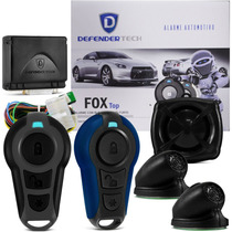 Alarme Defender Tech Fox Automotivo Carro Universal Azul